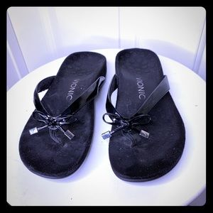 Vionic black suede sandals!